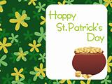 shamrock background with magical earthenware