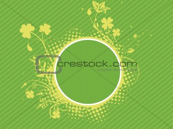 abstract background with grunge shamrock