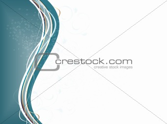 Abstract waves with floral ornament