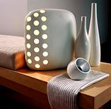 Stylish lamp on a table