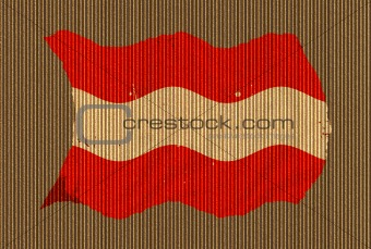 Cardboard Grunge Austrian Flag
