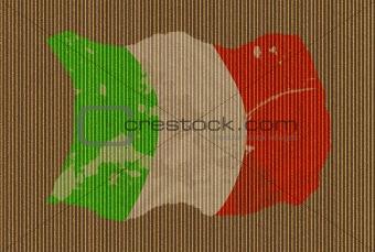Cardboard Grunge Italian Flag