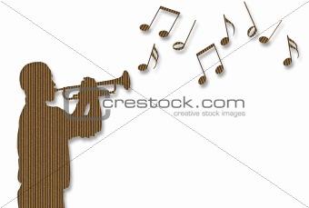 Cardboard Trumpet Player