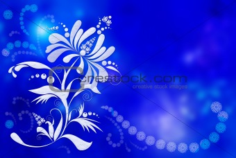 Background with light flower