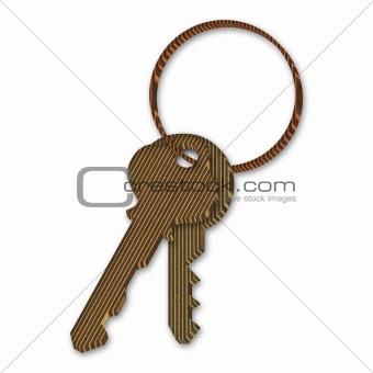 3d Cardboard Keys