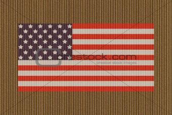 American Flag Over Cardboard