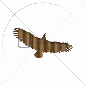 Cardboard Carved Eagle