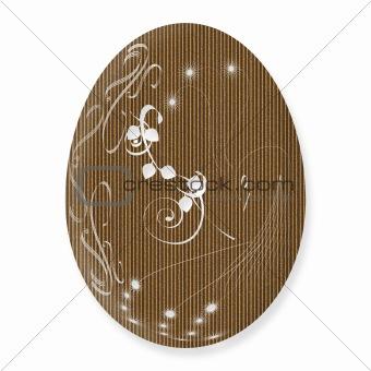 Cardboard Easter Egg