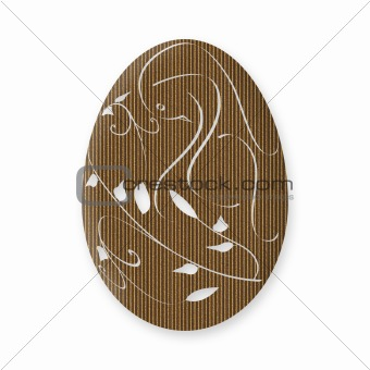 Cardboard Easter Egg With Dove