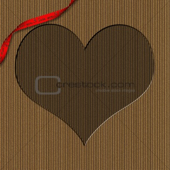 Cardboard Heart Shaped Valentine Frame