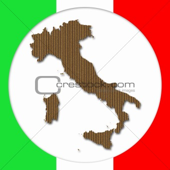 Cardboard Italy Silhouette