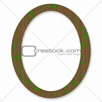 Cardboard Oval Floral Frame