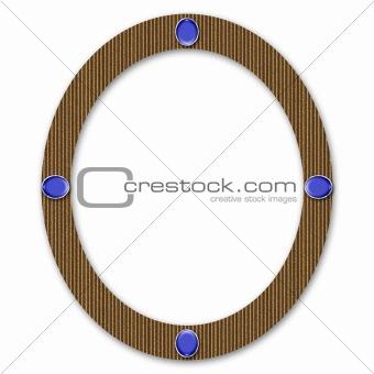 Cardboard Oval Frame With Gems