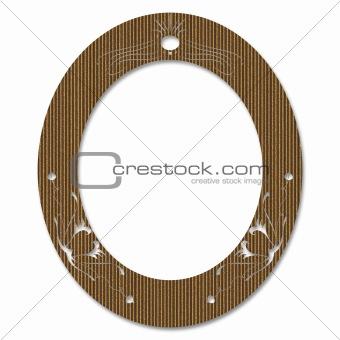 Cardboard Oval Frame
