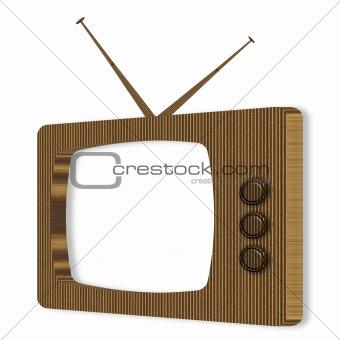 Cardboard Television Frame