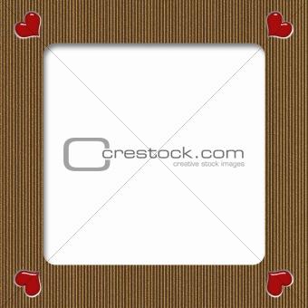 Cardboard Valentine Frame