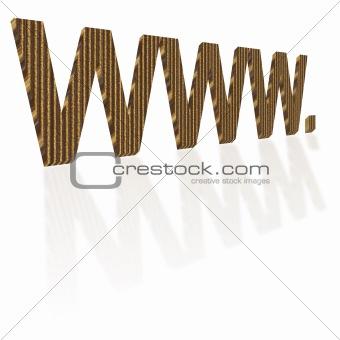 Cardboard WWW Writing