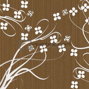 Carved Cardboard Floral Background