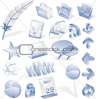 Vector glass icon set