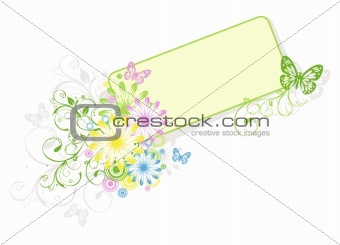Abstract floral background, element for design, vector