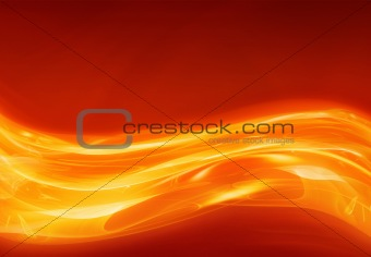 abstract flowing heat