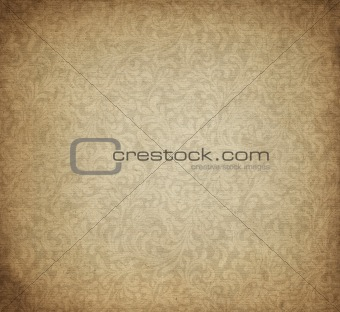old paper with paisly design