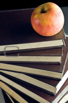 Apple on a books