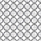 Cans in a pattern