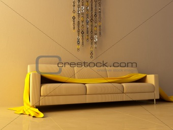 Interior - Ring chain decorated wall