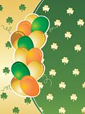 colorful greeting card with colorful balloons pattern 17 march