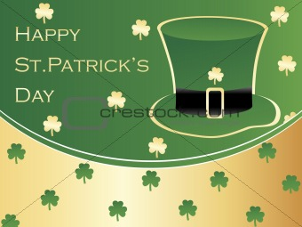 abstract color shamrock background with hat 17 march