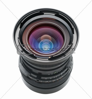 Camera lens with clipping path