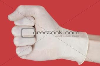 Fist on glove