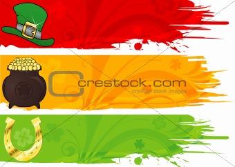 Three St. Patrick's Banner
