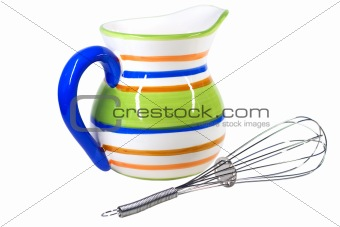 Pot and whisk