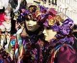 Couple at carnival in Venice.