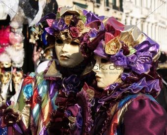 Couple at carnival in Venice.