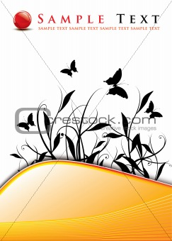 abstract background / floral design