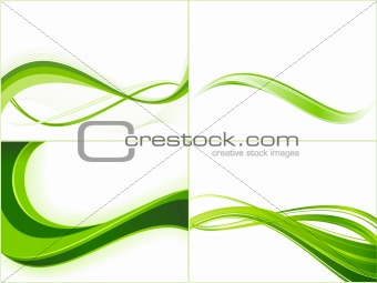 Green ecology wave background templates