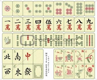 Custom-designed Mahjong tiles