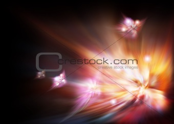 Abstract black luminous background