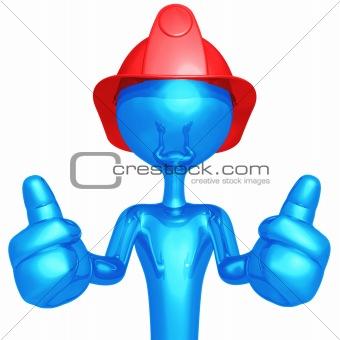 Fireman Two Thumbs Up