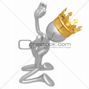 King Kneeling In Praise