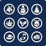 Christmas and New Year 9  icons  (set 1, part 2)
