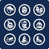 Seasons: Winter 9 icons (set 3, part 1)