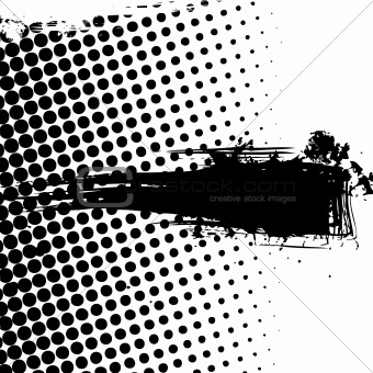 Grunge banner with dots