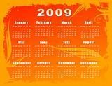 2009 vector calendar - floral design