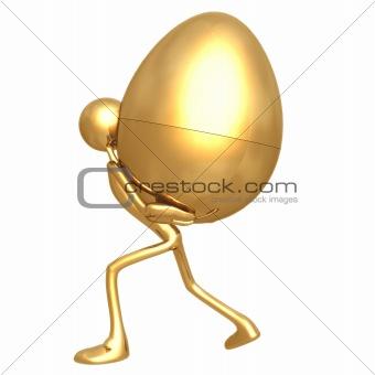 Carrying Gold Nest Egg Burden