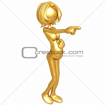 Pregnant Woman Pointing