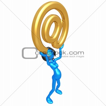 Pregnant Woman Holding Email